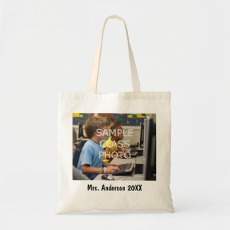 School Teacher Custom Class Photo & Text Tote Bag