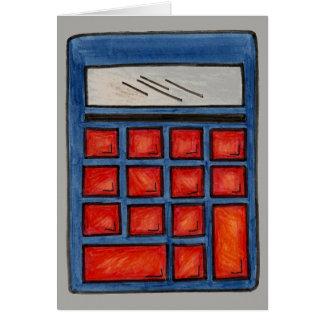 School Teacher Education Math Nerd Calculator Card