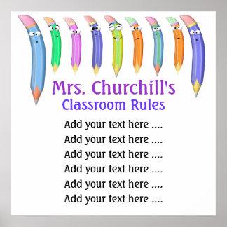 School Teacher s Classroom Rules by SRF Print