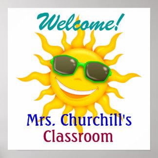School Teacher s Classroom Welcome - SRF Posters