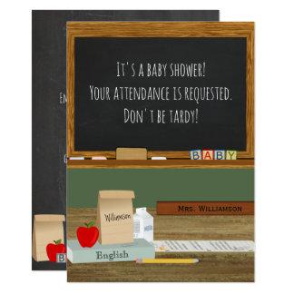 School Teacher Theme Baby Shower Card