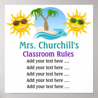 School Teacher's Classroom Rules . by SRF Poster