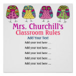 School Teacher's Classroom Rules LG. by SRF Posters