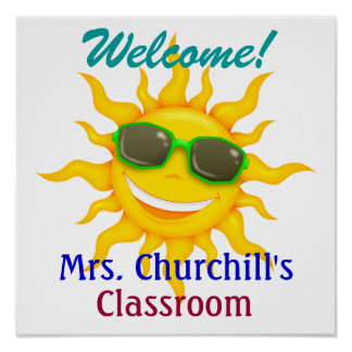 School Teacher's Classroom Welcome - SRF Poster