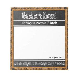 School Teacher's Message Board Notepad