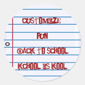 School Theme Notepaper Fun Stickers