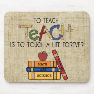 School Theme Teachers Touch a Life Custom Mousepad