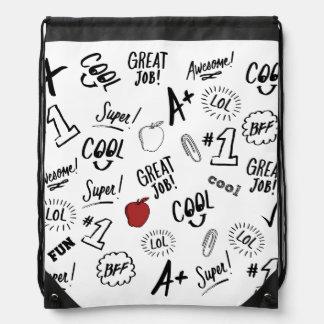 School Time Drawstring Bag