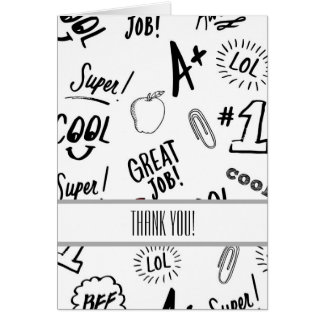 School Time Thank You Card