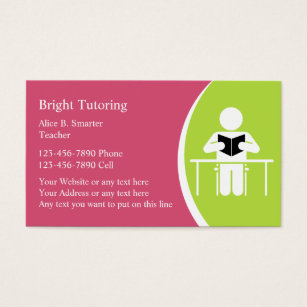 Tutoring business card selol ink tutoring business card colourmoves
