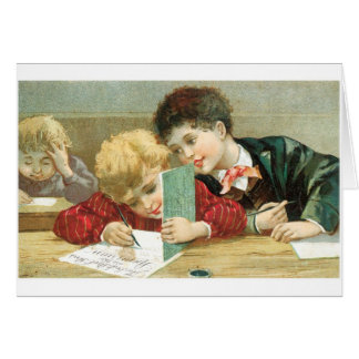 Schoolboys Greeting Cards