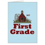 Schoolhouse 1st Grade Card