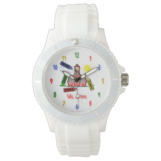 Schoolhouse & Crayons Sporty Teacher Watch