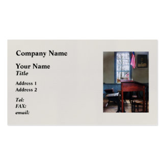Schoolmaster's Desk Business Card Templates