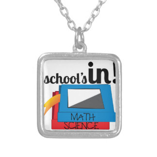 Schools In Silver Plated Necklace