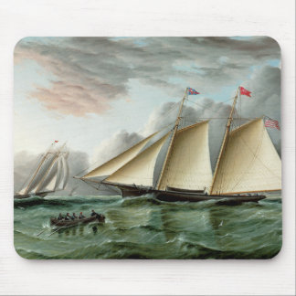 Schooner Mohawk of Sandy Hook Lighthouse Mouse Pad