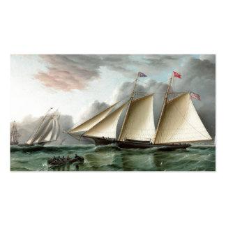 Schooner Mohawk off Sandy Hook Lighthouse Pack Of Standard Business Cards