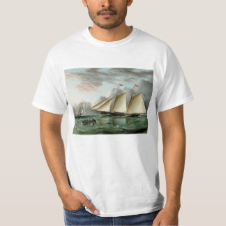 Schooner Mohawk off Sandy Hook Lighthouse T-Shirt