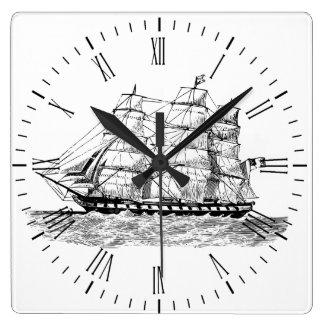 Schooner on Clock - Sailing Vessel on Clock