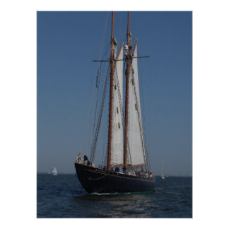 Schooner on parade poster