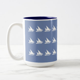 Schooner Sails Two-Tone Coffee Mug