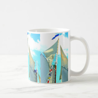 schooner topsails coffee mug