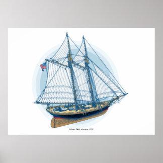 Schooner Yacht «America», 1851 Poster