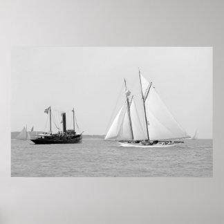 """Schooner Yacht """"Indra"""" Print"""