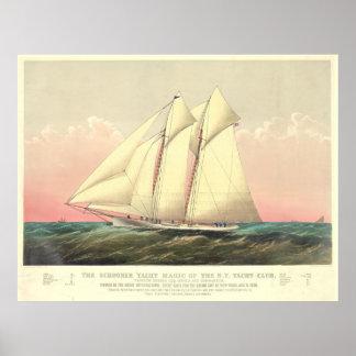 Schooner Yacht Magic 1870 Posters