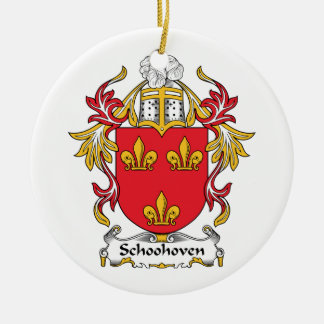 Schoonhoven Family Crest Ceramic Ornament