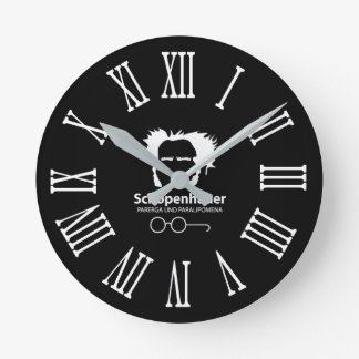 Schopenhauer and Spectacles O'clock Round Clock