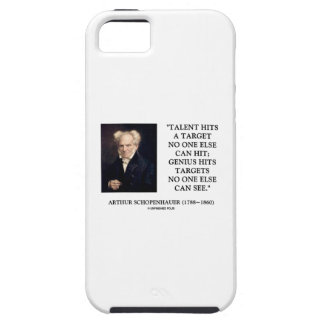 Schopenhauer Talent Genius Hits Targets No One See iPhone 5 Cases