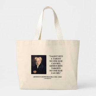 Schopenhauer Talent Genius Hits Targets No One See Bags