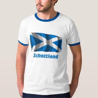 Schottland Fliegende Kreuzflagge mit Namen Shirts