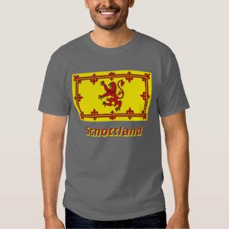 Schottland Löwenflagge mit Namen T Shirt