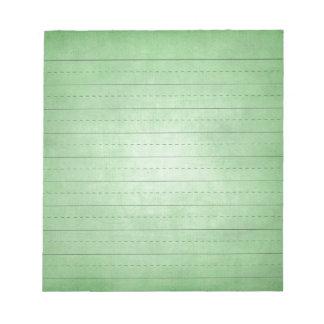 SCHPPR GREEN SCHOOL LINED PAPER EDUCATION BACKGROU NOTEPAD