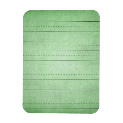 SCHPPR GREEN SCHOOL LINED PAPER EDUCATION BACKGROU FLEXIBLE MAGNET