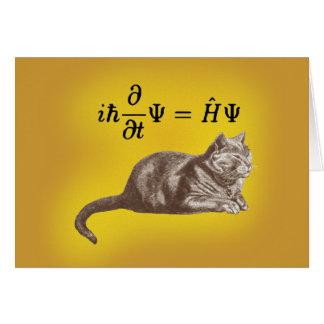 Schrodinger cat card