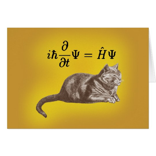 Schrodinger cat card