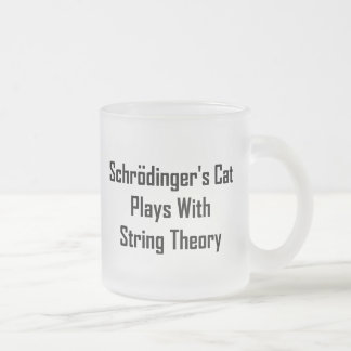 Schrodinger s Cat Plays With String Theory Coffee Mugs