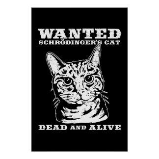 Schrodinger s cat wanted dead or alive poster