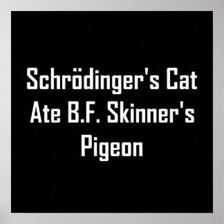 Schrodinger's Cat Ate B.F. Skinner's Pigeon Poster