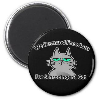 Schrodinger's Cat Funny Geek Humor Fridge Magnets