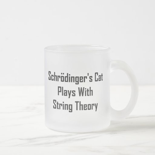 Schrodinger's Cat Plays With String Theory Coffee Mugs