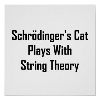 Schrodinger's Cat Plays With String Theory Print