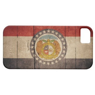 Schroffe hölzerne Missouri-Flagge Barely There iPhone 5 Case