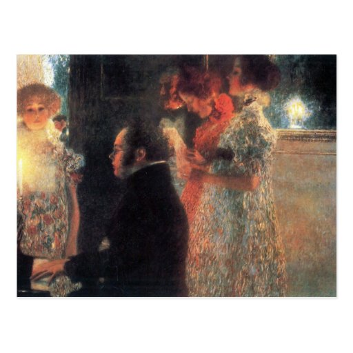 Schubert at the piano by Gustav Klimt Post Card