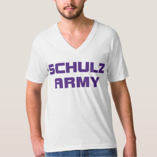 Schulz Army American Apparel Men's White V-Neck T- T-Shirt