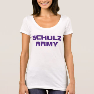 Schulz Army Women's American Apparel White Scoop N T-Shirt