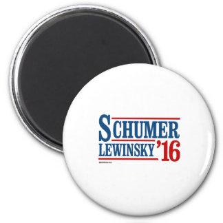 Schumer Lewinsky 2016 6 Cm Round Magnet